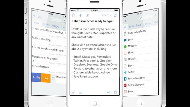 Drafts Gets a Price Drop, Tip Jar and New iOS 10 Features