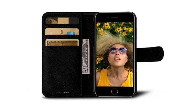 Lucrin's Leather Wallet Case is the Luxury Your iPhone Deserves