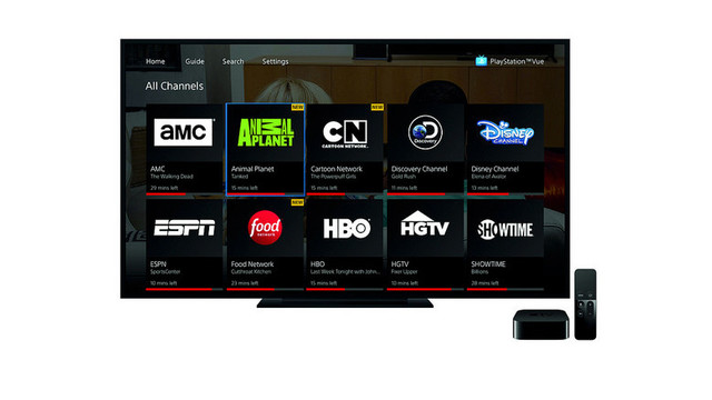 Sony's PlayStation Vue Streaming Service Lands on the Apple TV