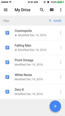 how to clear google drive iphone app data