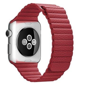 The Best Non-Apple Red The Best Replica Leather Loop Apple Watch Band